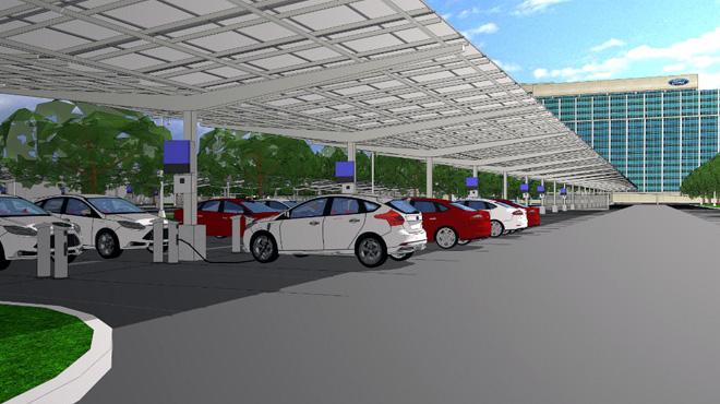 Ford-construira-un-panel-solar-para-recarga-de-vehiculos-electricos-en-su-sede-de-Dearborn-2