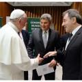 Papa Franciso, Steve Saint Angelo y Daniel Herrero