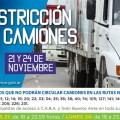 Restricción camiones rutas