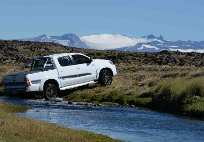 Hilux en el Parque Nacional Patagonia