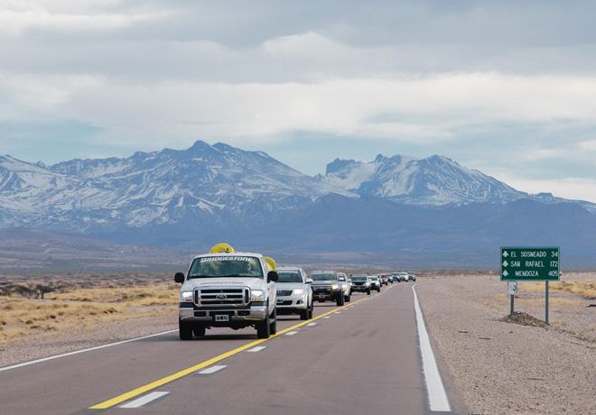 Caravana Solidaria Ruta Bridgestone