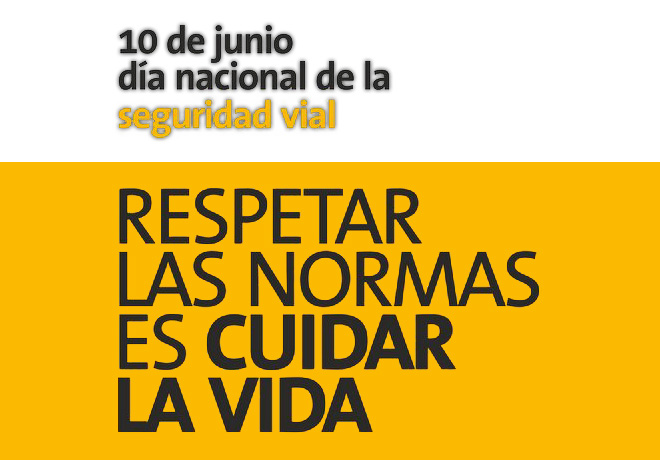 10 de junio - dia nacional de la Seguridad Vial