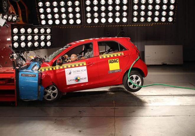 Latin NCAP - Kia Picanto - sin Airbags