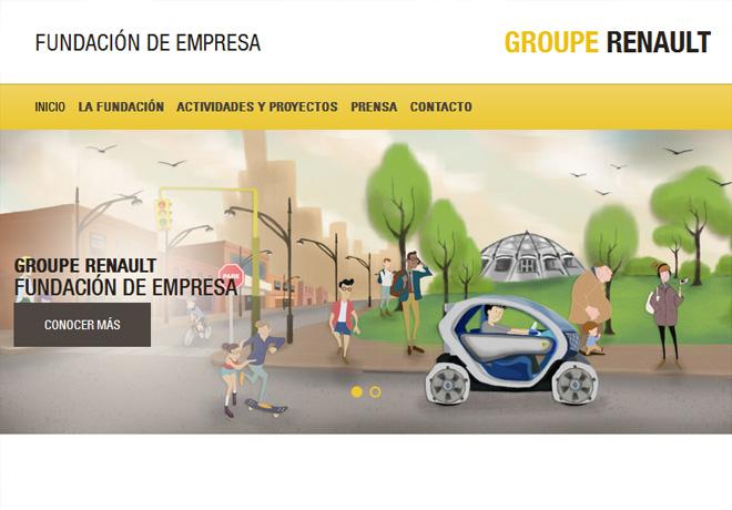 Nuevo sitio web para la Fundación de Empresa Groupe Renault.