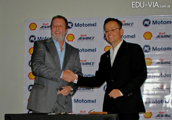 Alianza estratégica entre Motomel y Shell.