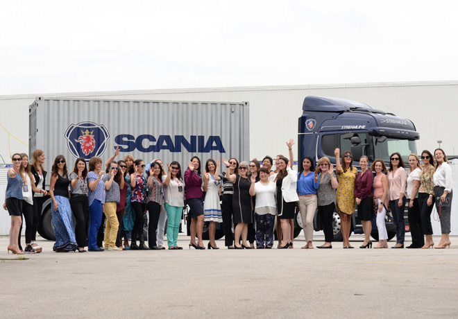 Scania reunió a mujeres empresarias del transporte en Latinoamérica.