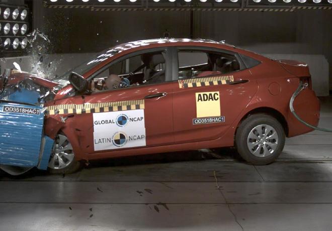 Latin NCAP - Hyundai Accent - sin Airbags