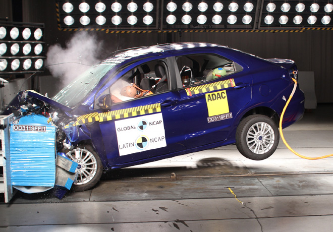 Latin NCAP - Ford Figo - con 4 Airbags