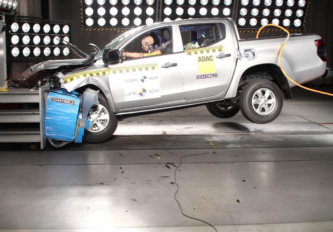 Latin NCAP - Mitsubishi L200 - Sin Airbags