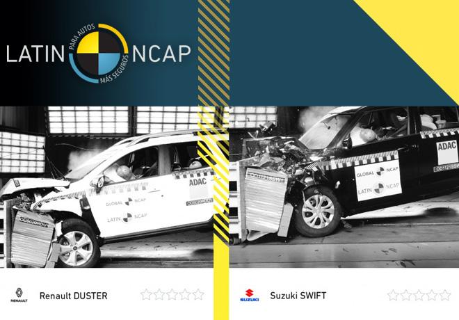 Últimos resultados de Latin NCAP: Cero estrellas para Renault New Duster y Suzuki Swift.